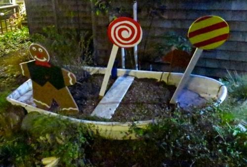 Allan's photo:  Time Enough Books garden boat