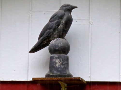 Allan's photo, the crow in the peak of the roof