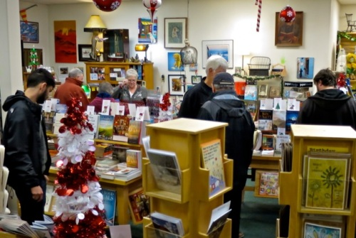 Allan's photo: lots of patrons for Shop Small Saturday
