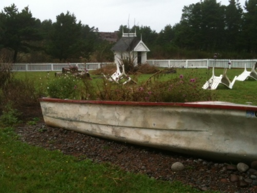 the garden boat on the west lawn