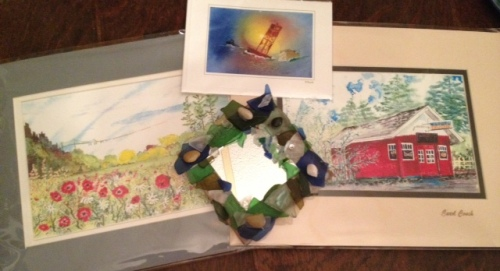 some of our art haul from Carol's studio