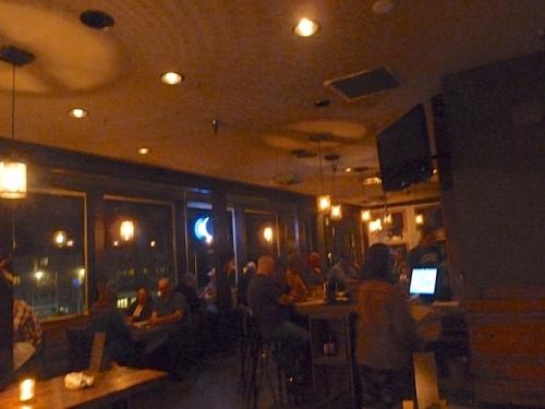The bustling [pickled fish] restaurant.