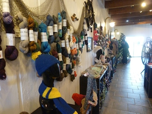 yarn displayed on nautical nets