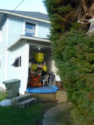 I do believe that's Shrek waiting next door.