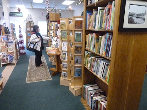 J9, an avid reader, browsing the shelves