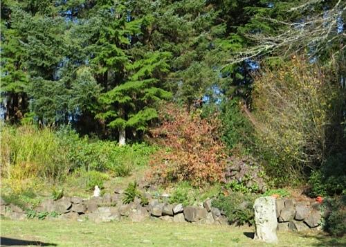 part of the rock wall garden