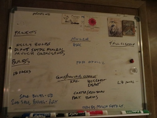 a workboard getting sparser by the day