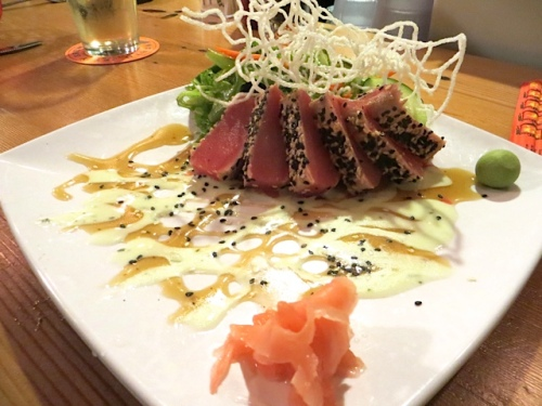 I was thrilled that his delectably prepared ahi tuna was on tonight's menu.