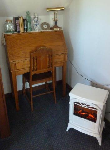 a cosy desk in the corner