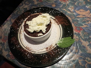 Allan's espresso chocolate pot de creme.  (The rest of us had eggnog flan.)