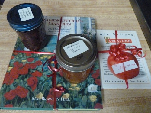 books and preserves from Garden Tour Nancy