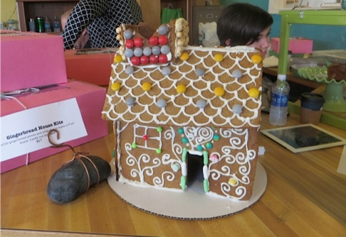 Pink Poppy Bakery gingerbread house