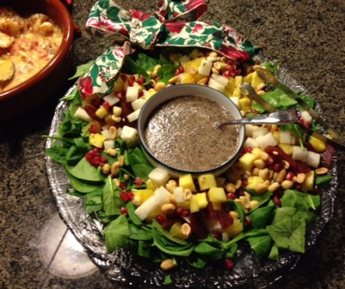 Nancy's Christmas wreath salad