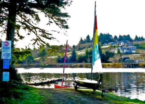 The red boat is Allan's.