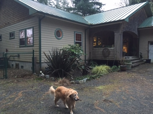 My friend Ralph and his beautiful bayside house