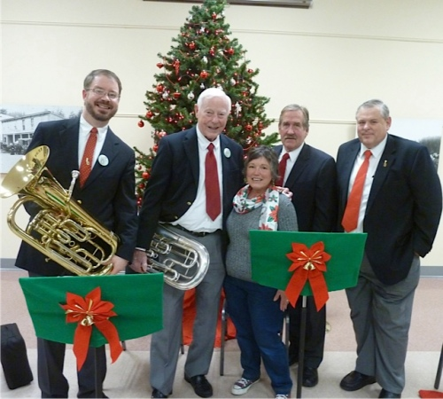It's J9's tradition to have her Christmas card include the tuba players.