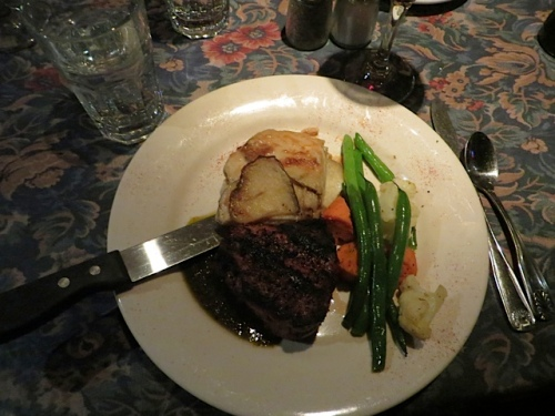 Allan chose the filet mignon.