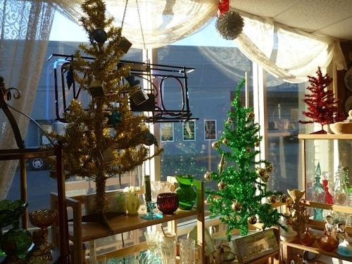 sparkling bright winter sunshine on seasonal decor