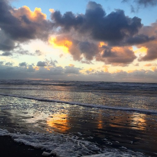 """""""Fantastic sunset - we spent the day riding bikes along the Discovery Trail. Some of the most beautiful ocean views I've ever seen. """"  photo by Sonya Reasor"""