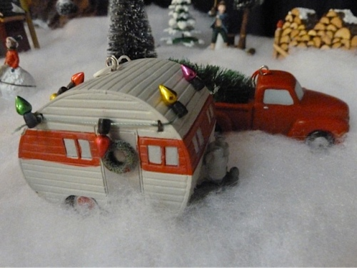 new this year: vintage truck and trailer