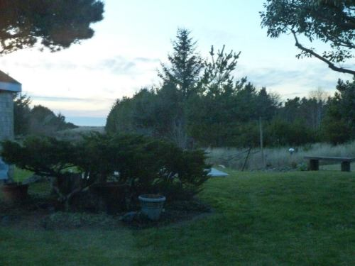 living room view.  We could see the crests of the ocean waves and an occasional crabbing boat or cargo ship on the horizon.