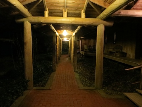 walkway to guest house