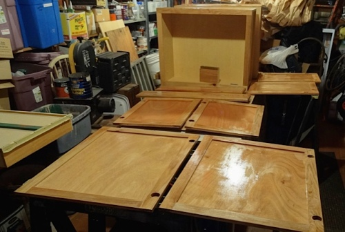 staining the doors