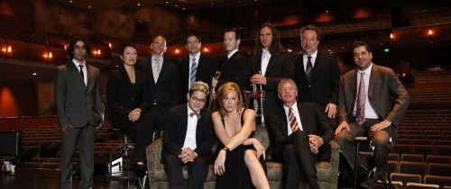 a publicity photo of Pink Martini with Storm Large