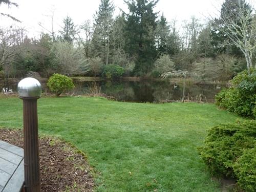 ...overlooks this pond.