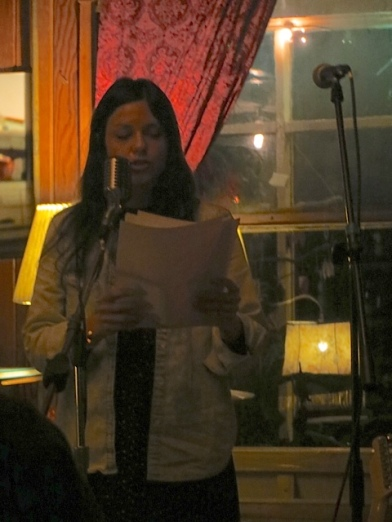 Lisa Wells read an intense and revealing poem.