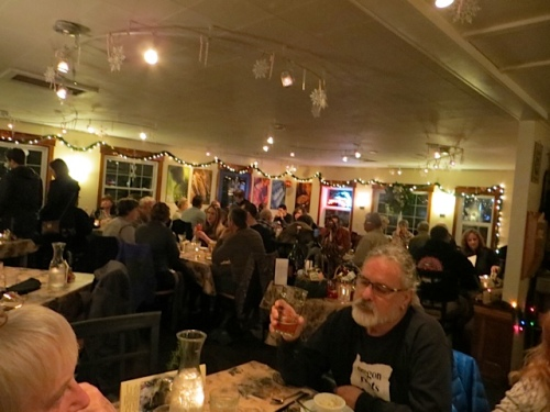 The restaurant was filling up.  Two of the other tables had seated guests at the Boreas Inn.