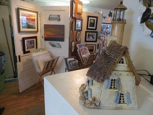 at the gallery: one of the houses of artist Jan Bartlett Richardson