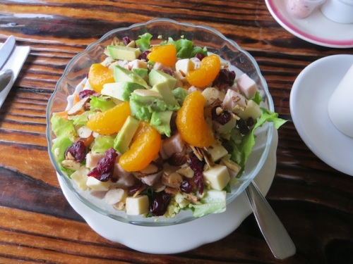 my salad with cranberries and oranges