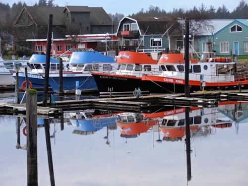 CoHo Charter boats.