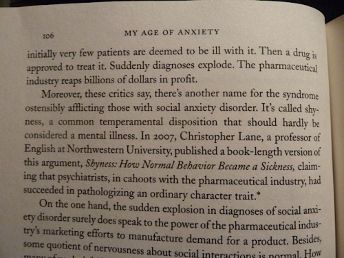 regarding social anxiety disorder: I want to read that book.