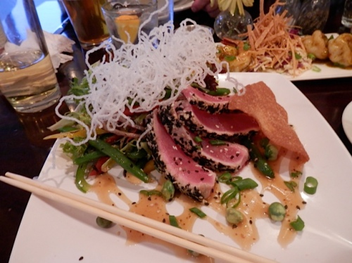 Allan and I had ahi tuna