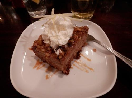 We all had Sondra's apple cake for dessert...