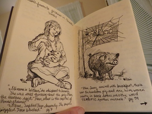in an old E.B. White room journal