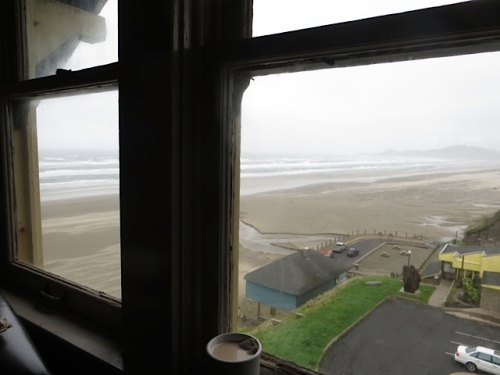 attic view to the north, with tea (Earl Grey, hot)