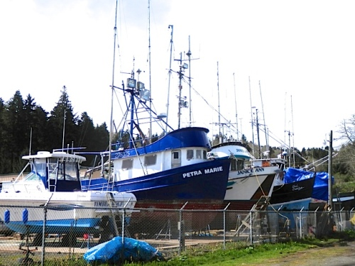 north side of the boatyard