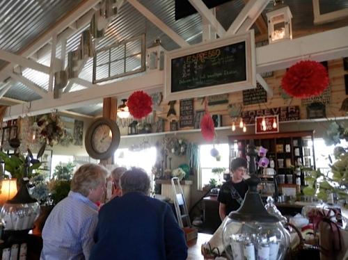 The café counter