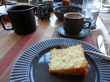 John had baked a scrumptious coconut buttermilk cake.