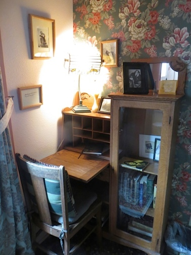 desk with old journals