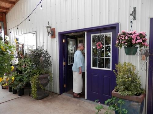door to the café