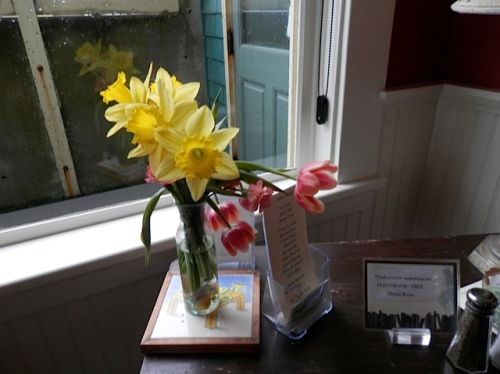flowers by the door