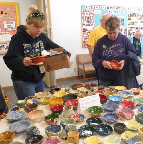 Inside, bowls were still being added to the display.  It was hard to choose!