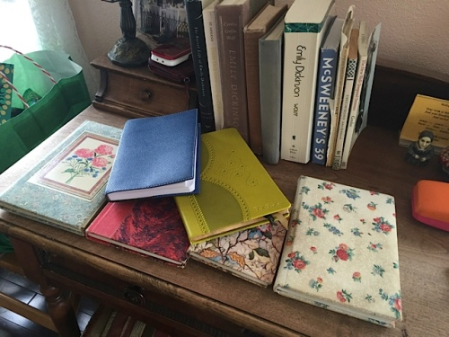 Oh dear, not as many old journals remain as in Jane's room....