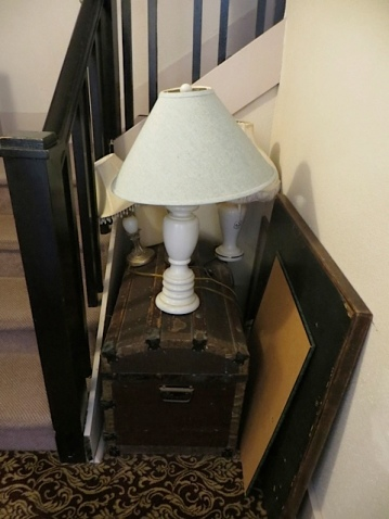 extra lamps at the stairs to the library attic