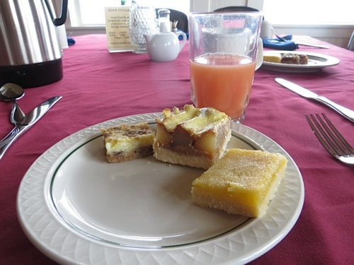 ah, the peach kuchen and the lemon bars...I will miss them.