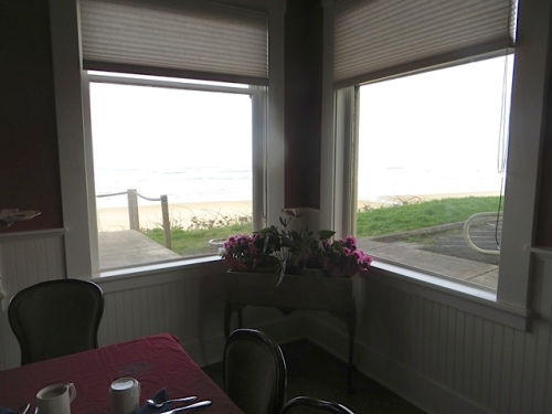 in the dining room for our last breakfast